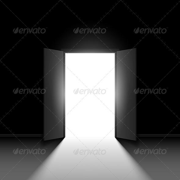 Double Open Door - Objects Vectors