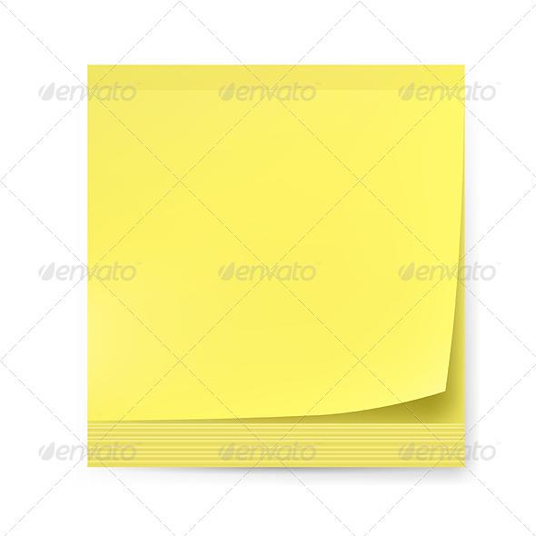 Yellow Sticker - Web Elements Vectors