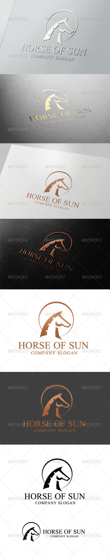 Horse Of Sun Logo - Crests Logo Templates