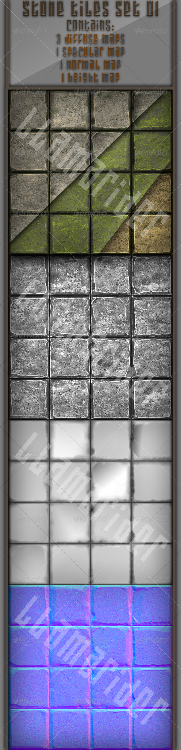 Stone Tiles 01 - 3DOcean Item for Sale