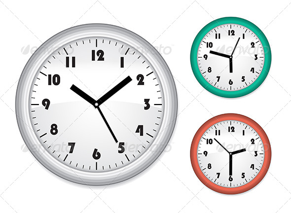 Office Clock - Objects Vectors