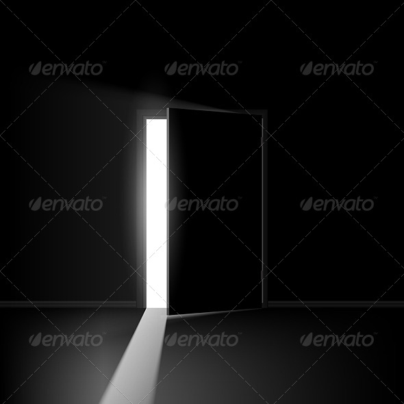Open Door - Objects Vectors