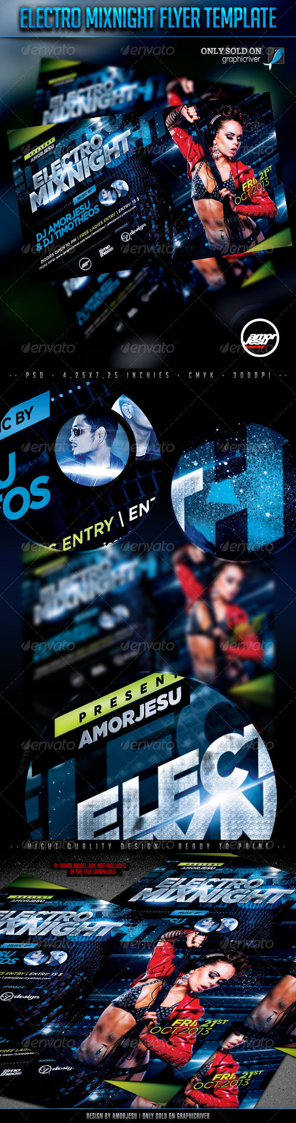 Electro Mixnight Flyer Template - Clubs & Parties Events