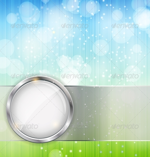 Abstract Background with Leaves and Glass Frame - Landscapes Nature
