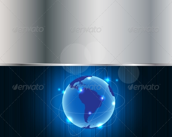 Abstract Metal Connection Concept Earth Background - Backgrounds Business