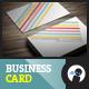 Color Stripes Minimal - Business Card - GraphicRiver Item for Sale