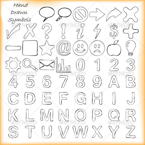 Hand Drawn Decorative Symbols - Decorative Symbols Decorative