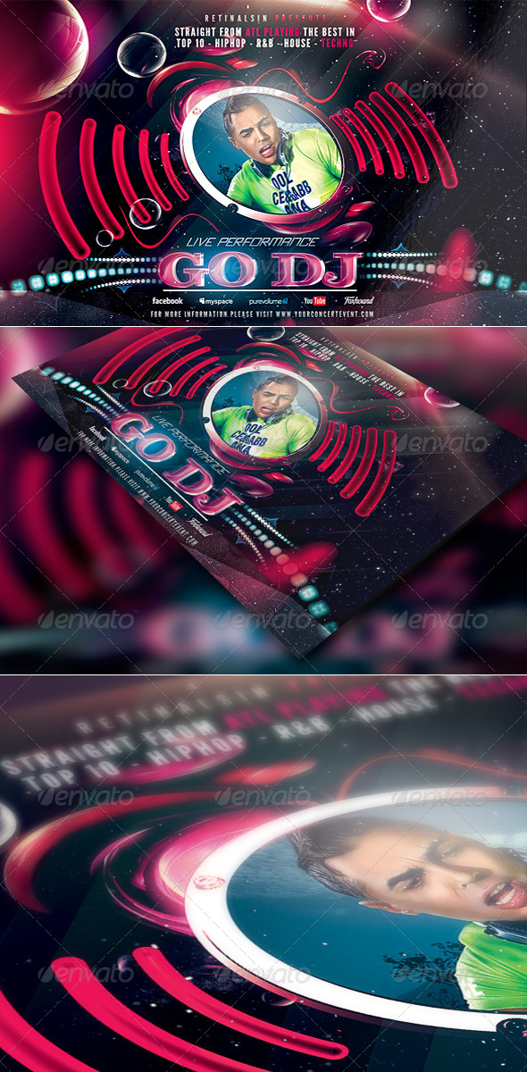 """Go Dj """"High Quality"""" Flyer Template - Clubs & Parties Events"""