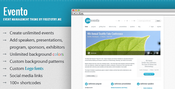 Evento – Event Management WordPress Theme