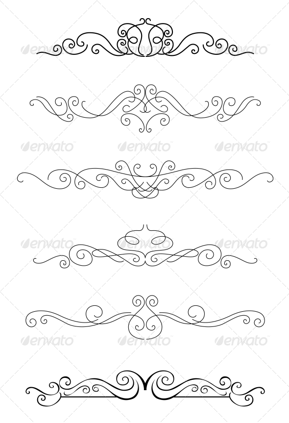 Borders and Dividers - Borders Decorative