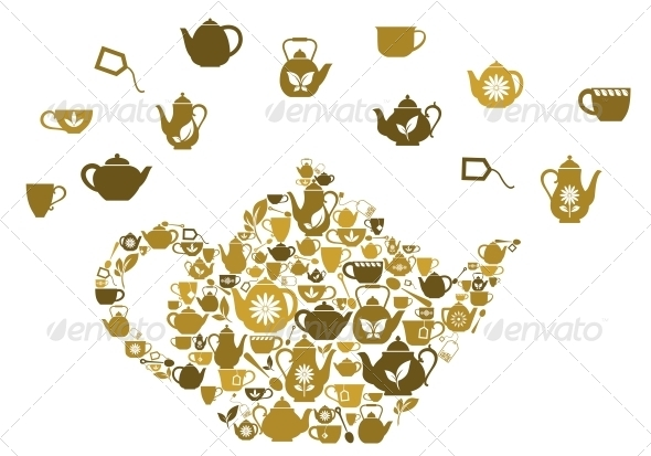 Teapots and Cups of Tea - Food Objects