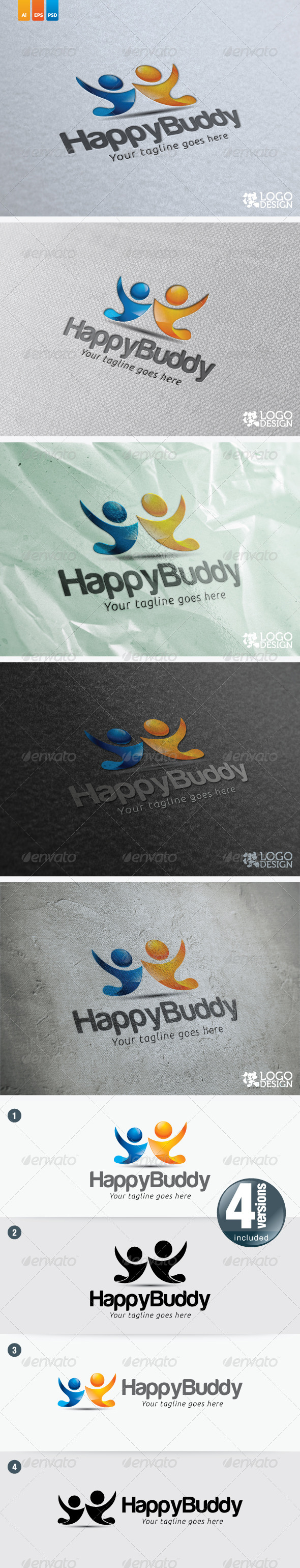 Happy Buddy - Humans Logo Templates