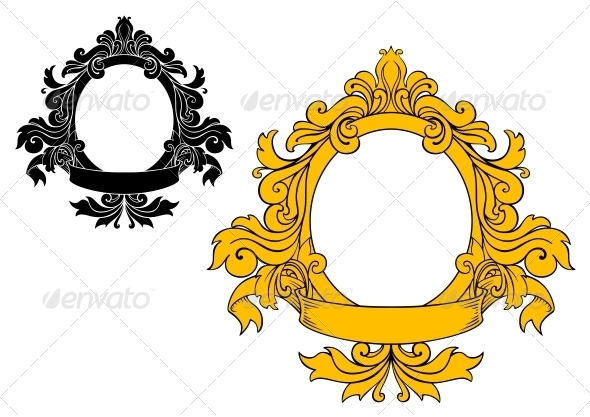 Medieval Floral Frame - Borders Decorative