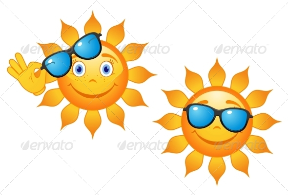 Funny Sun in Sunglasses - Seasons Nature