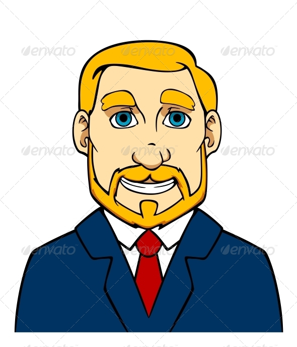 Businessman with Beard - People Characters