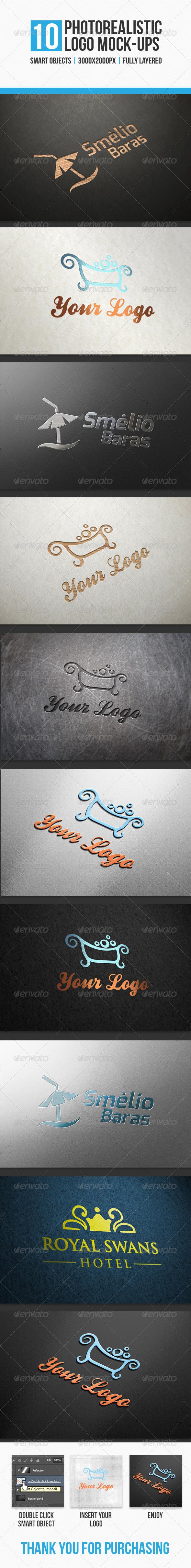 10 Photorealistic Logo Mock-Ups - Logo Product Mock-Ups