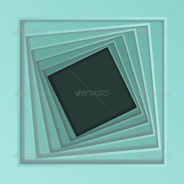 Abstract Spiral Frame - Abstract Conceptual