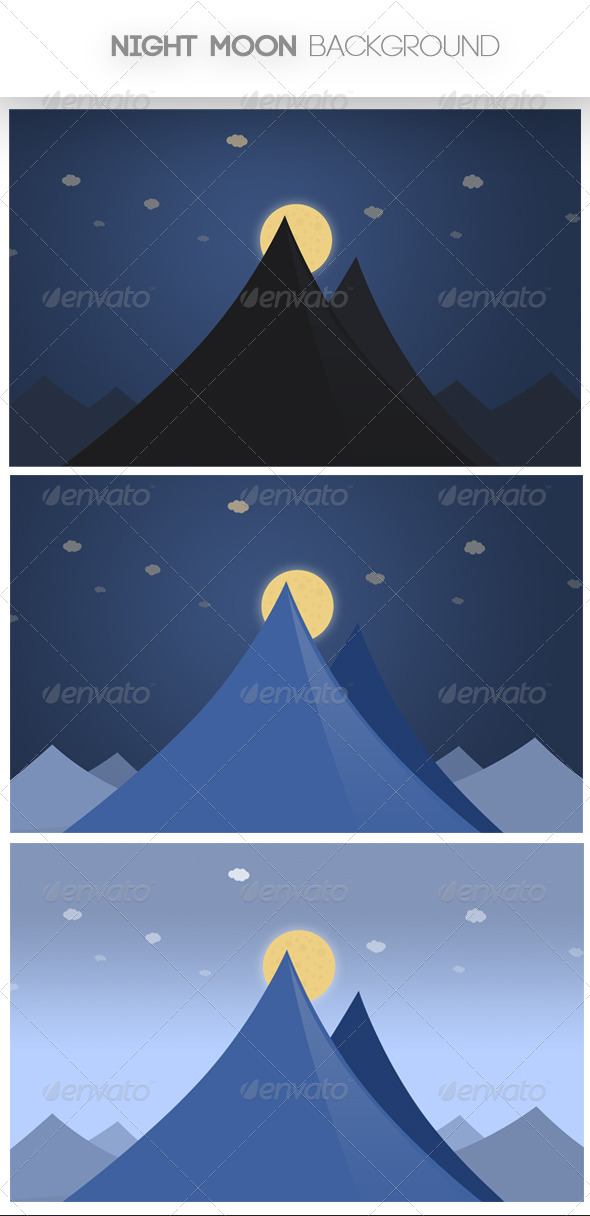 Night Moon Background - Nature Backgrounds