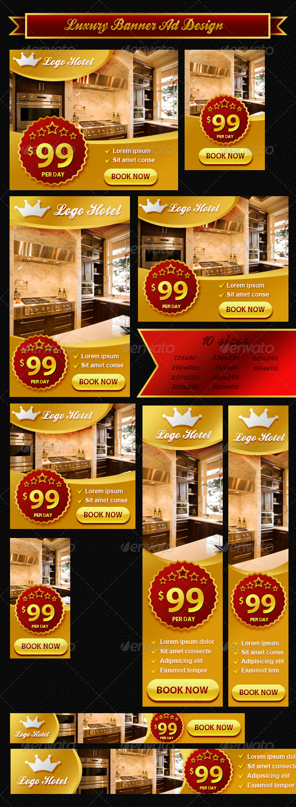 Luxury Banner ad Design - Banners & Ads Web Elements