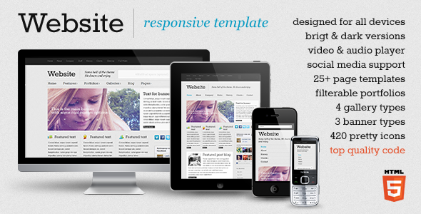 Free Download Website - responsive template Nulled Latest Version