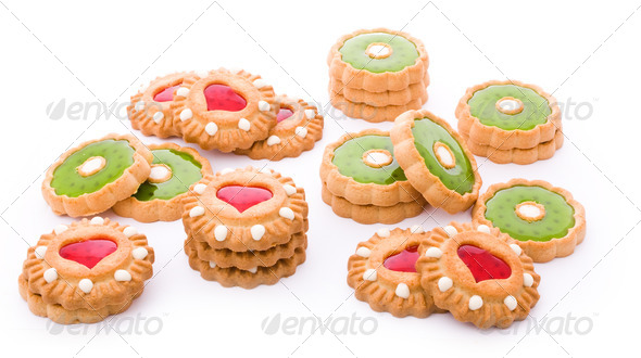 red and green cookies - Stock Photo - Images