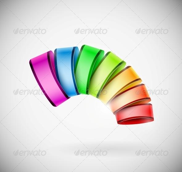 Colorful 3D Icon - Web Elements Vectors