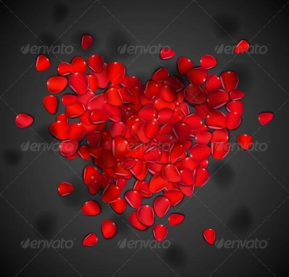 Heart of Rose Petals - Valentines Seasons/Holidays