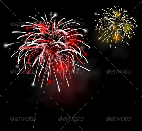 Fireworks in the Night Sky - Miscellaneous Seasons/Holidays
