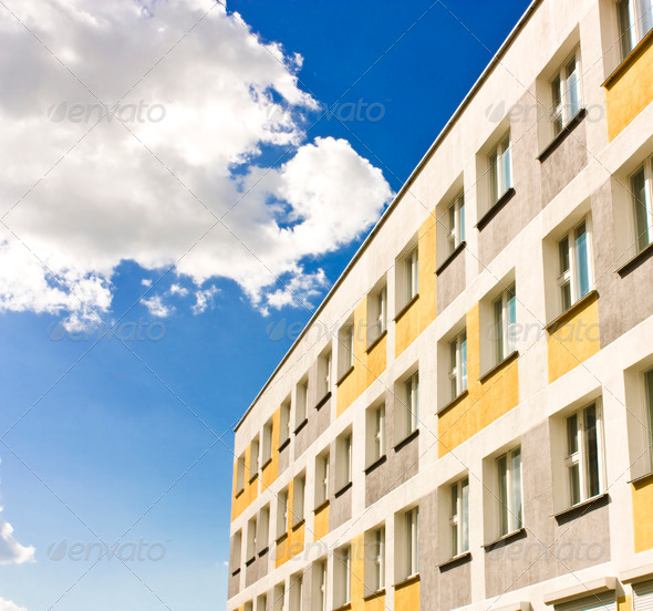 yellow building - Stock Photo - Images