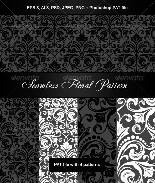Floral Seamless Pattern - Patterns Decorative