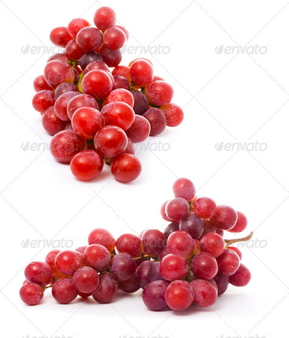 a bunch of juicy grape isolated over white - Stock Photo - Images