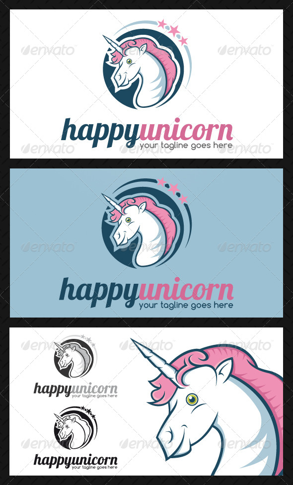 Unicorn Logo Template - Animals Logo Templates
