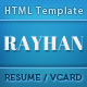 Rayhan - HTML Resume Template CV Vcard - ThemeForest Item for Sale