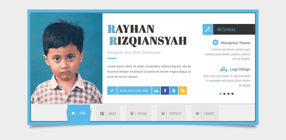rayhan html resume template cv vcard