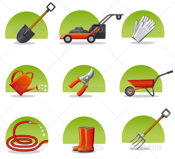 Garden Tools Icon Set - Icons