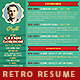 Retro Resume Template - GraphicRiver Item for Sale