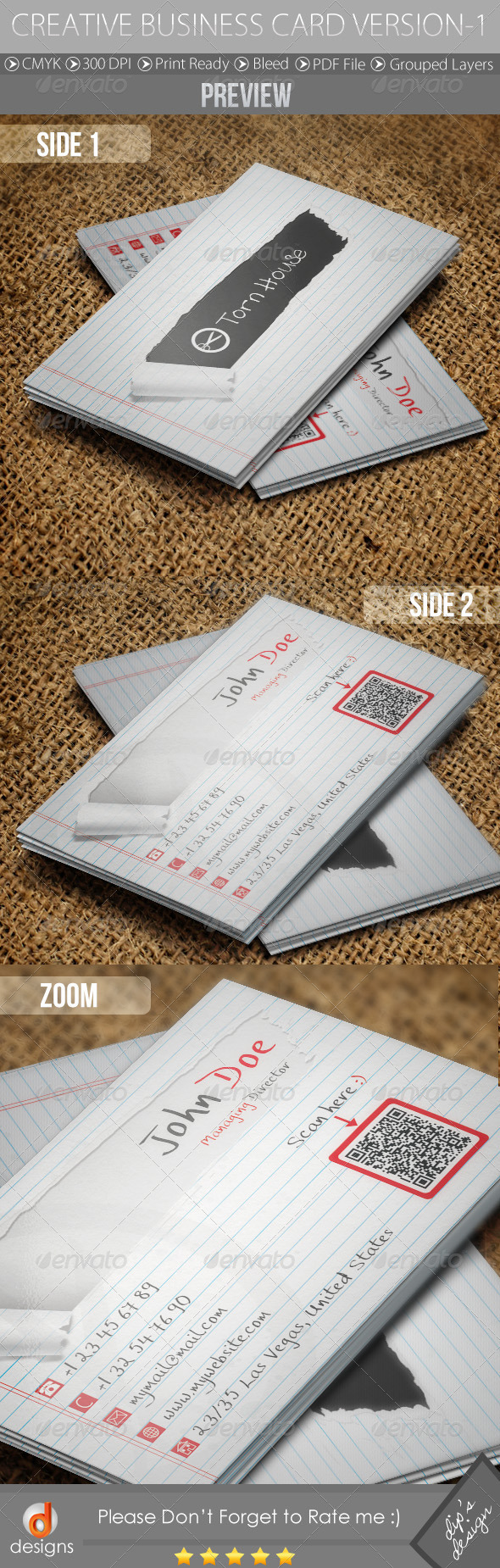 Creative Business Card Version-1 - Real Objects Business Cards
