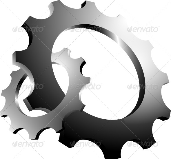 3D Interlaced Cogs - Man-made Objects Objects