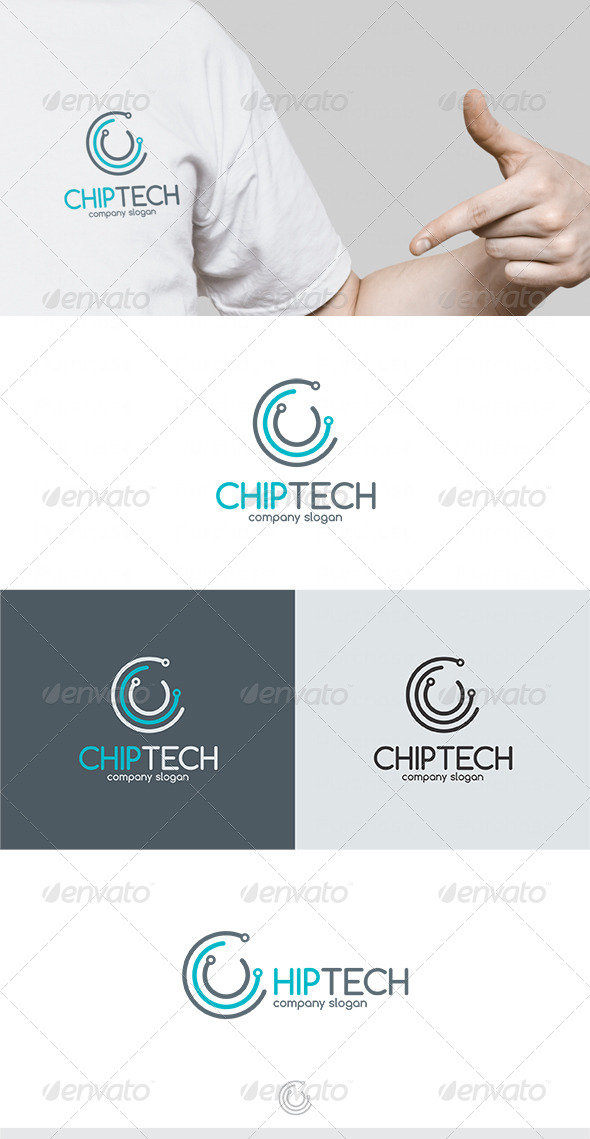 Chip Tech Logo - Vector Abstract