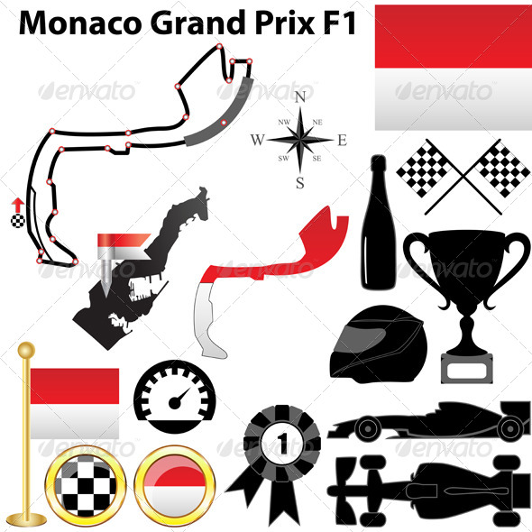 Monaco Grand Prix F1 - Sports/Activity Conceptual