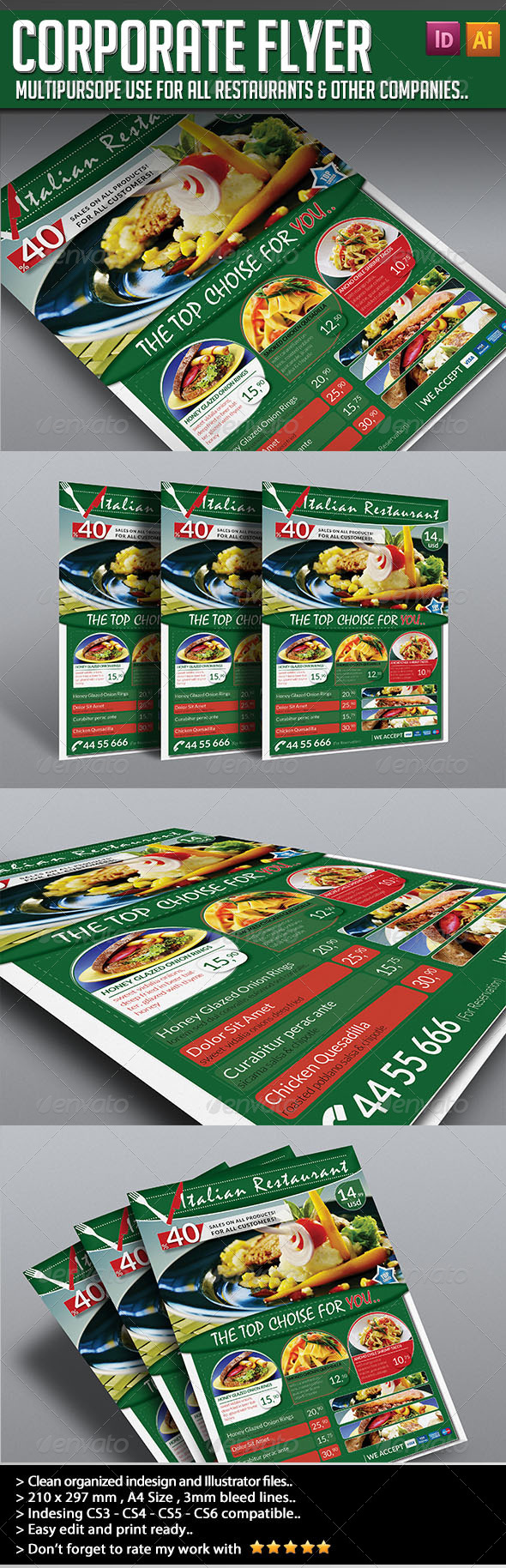 Corporate Flyer - Elegant Restaurant - Restaurant Flyers
