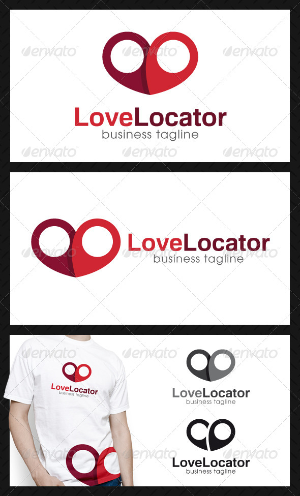 Love Locator Logo Template - Objects Logo Templates