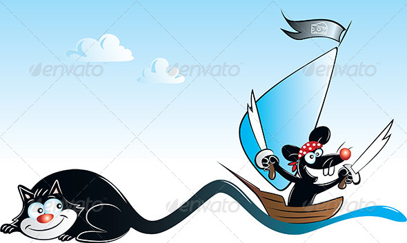 Pirate Mouse - Animals Characters