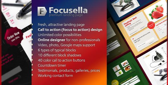Free Download Focusella Premium Landing Page Nulled Latest Version