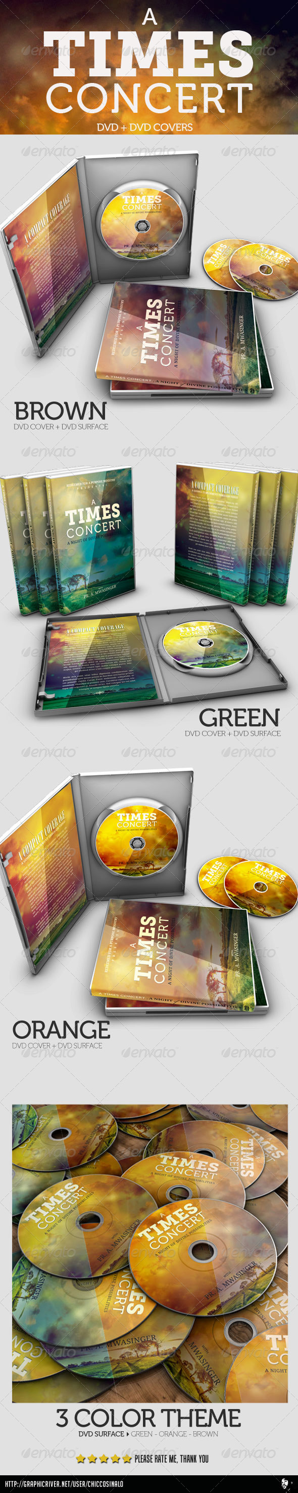 A Times Concert DVD and DVD COVER - CD & DVD Artwork Print Templates