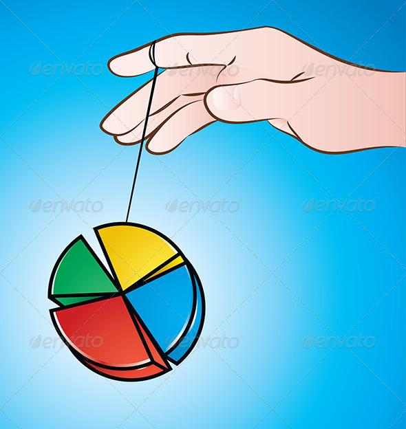 Pie Chart Yoyo - Concepts Business