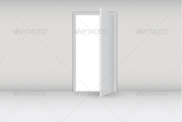 Open White Door - Backgrounds Decorative