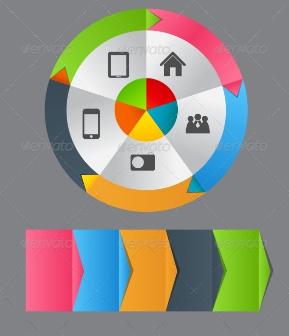 Infographic Template Business Vector Illustration - Web Technology