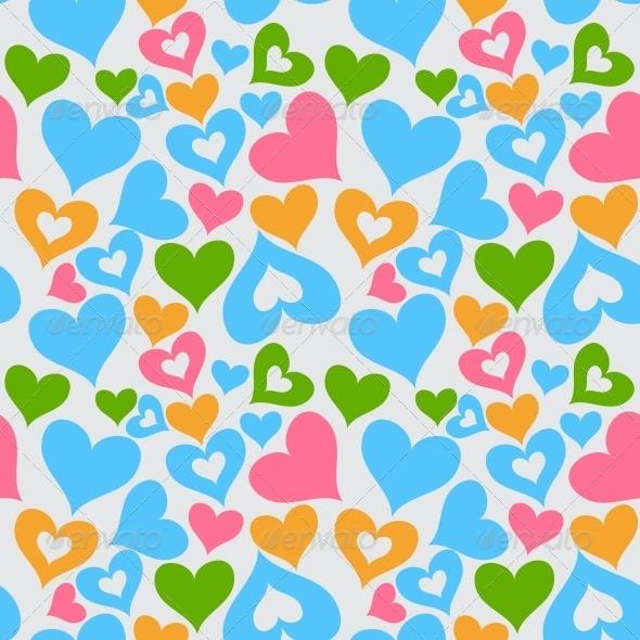 Valentine Seamless Hearts Pattern - Patterns Decorative