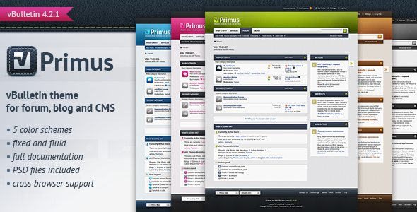 Download Free Primus - A Theme for vBulletin 4.2 Suite